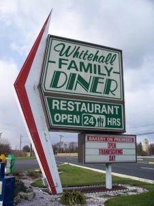 Whitehall Diner sign