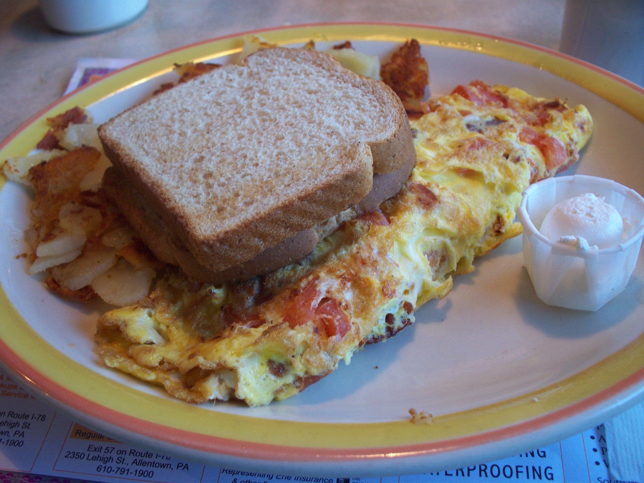 Bacon-Cheddar Omelettes Recipes — Dishmaps
